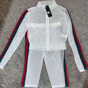 Gewcii Mesh Shorts/Jacket Set